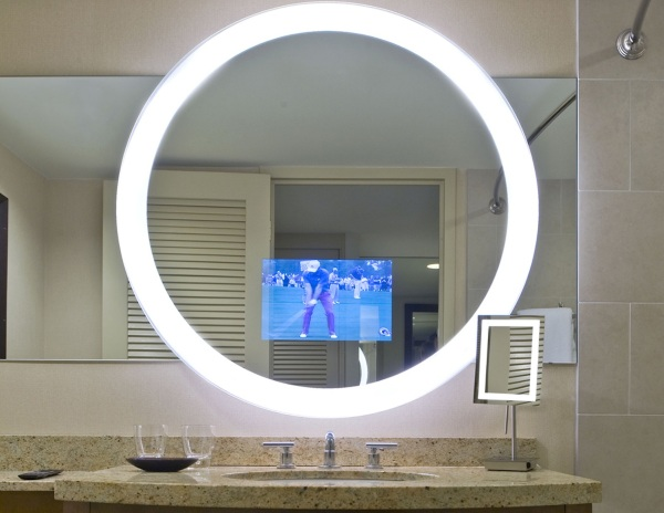 Trinity Lighted Mirror TV – watch TV while you shave