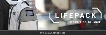 Lifepack – a cool solar powered, anti-theft backpack
