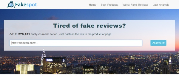 Fakespot – make sure those five stars weren't just paid for before you pay for the product
