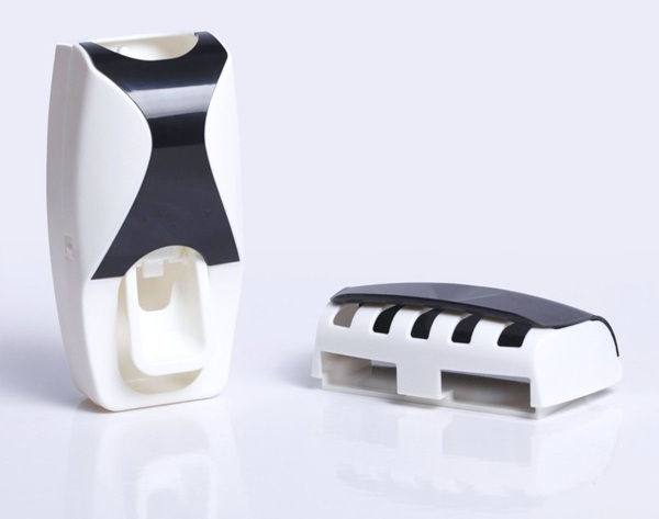 Automatic Toothpaste Dispenser with Toothbrush Holder empty