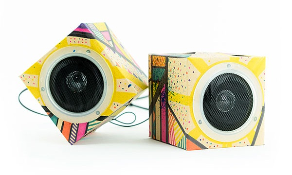 Design Out Loud Cardboard Speakers – DIY mobile speakers for the artistically inclined