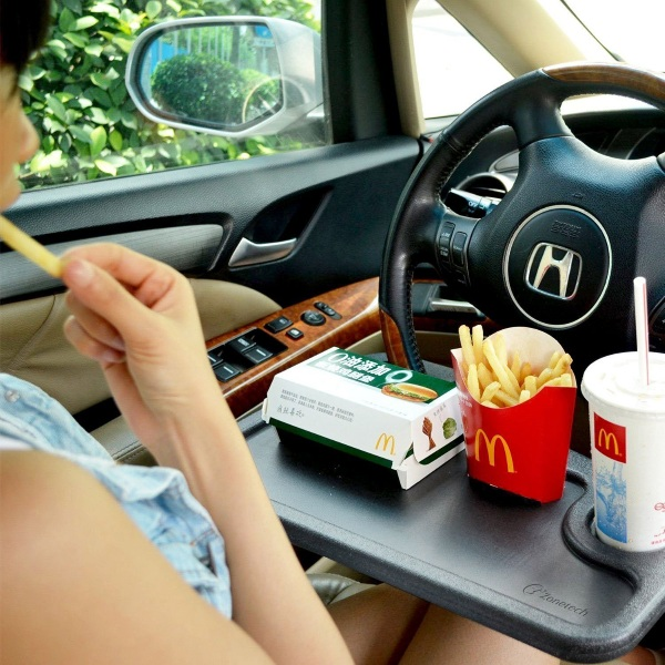 Laptop and Food Steering Wheel Tray – get more done sitting in your car