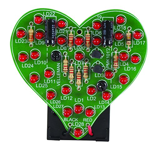 Flashing LED Sweetheart – show someone you care with this sweet DIY kit