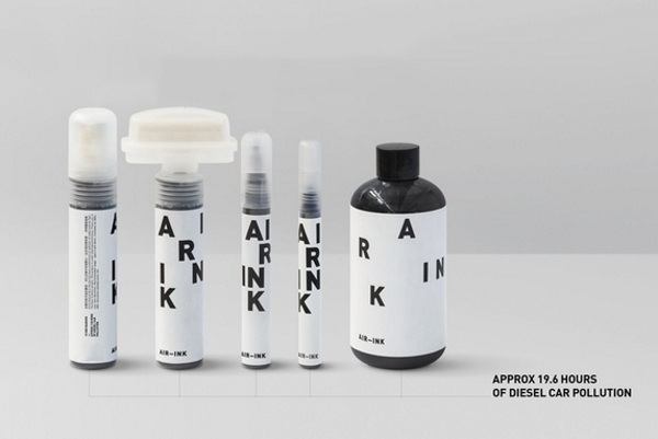 AIR-INK – draw with air pollution