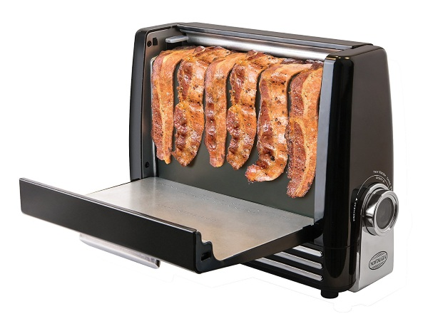Bacon Express – cooking and clean-up is a breeze with this gadget, as long as you want bacon