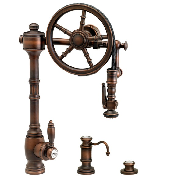 Wheel Pull Down Kitchen Faucet – punk your kitchen with this piece of hardware