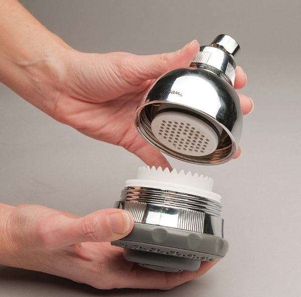 Filtered Shower Head- make your water a little softer before it hits you