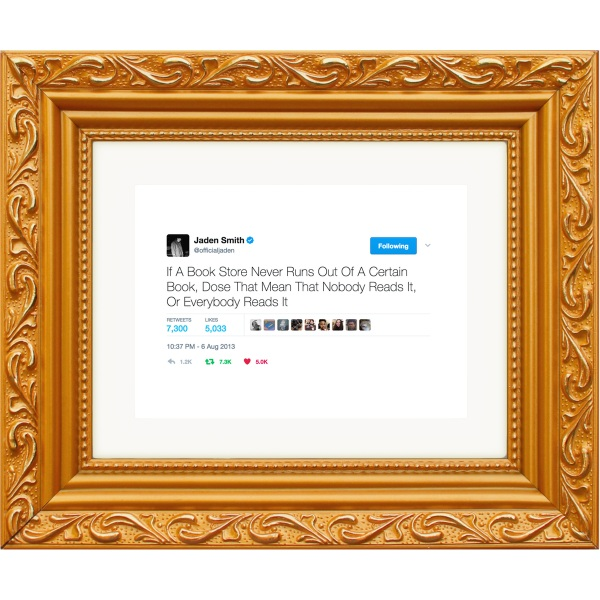 Framed Tweets – from digitally viral right to your physical wall