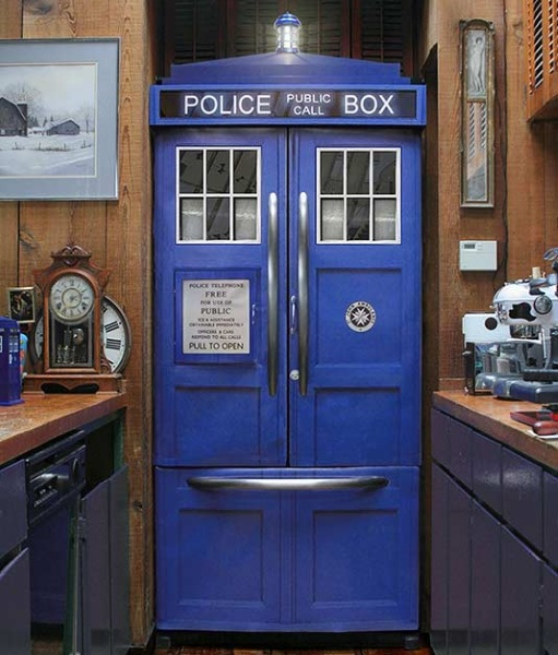 Police Box Fridge Kit – make sure your pizza rolls aren't going on adventures