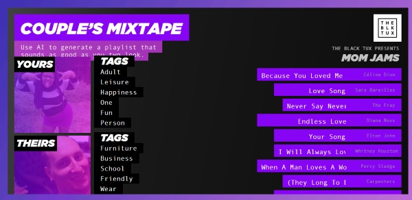 Couple's Mixtape – let this AI set the mood for you
