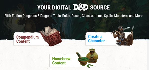 D&D Beyond – the site that makes getting stared easier