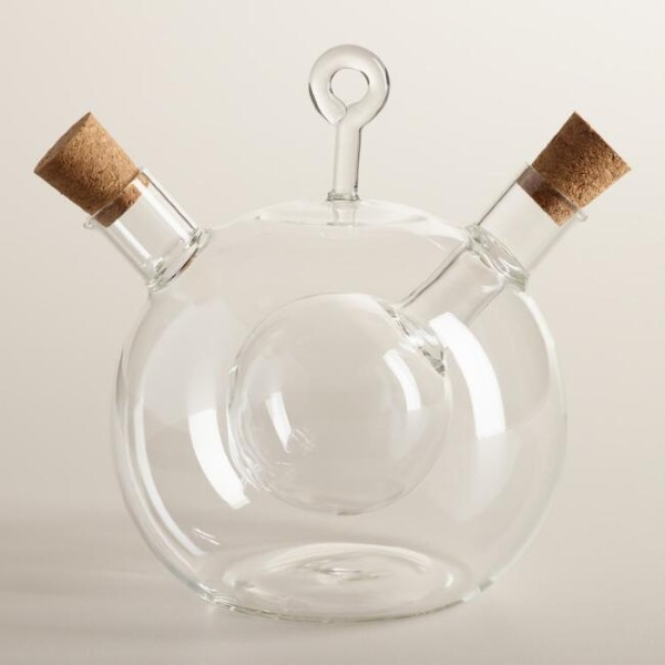 Glass Oil and Vinegar Globe Set – this attractive set just looks great on the table