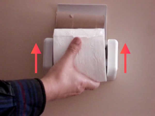 EZ-Load Toilet Paper Holder – make changing the TP roll even easier