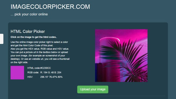 Image Color Picker – find out exactly what that color in the photo is