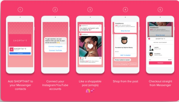 SHOPTHAT – do all your shopping through Messenger