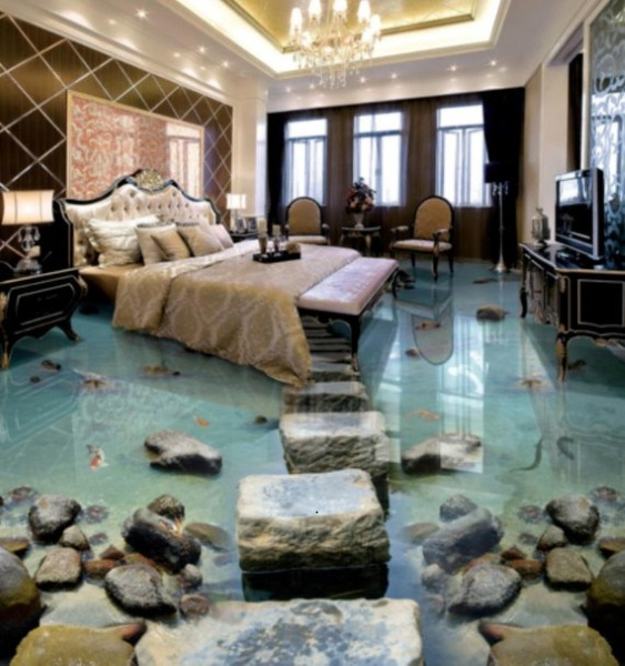 3D Waterfall Floor Mural – make people stare at your floor more, in a good way