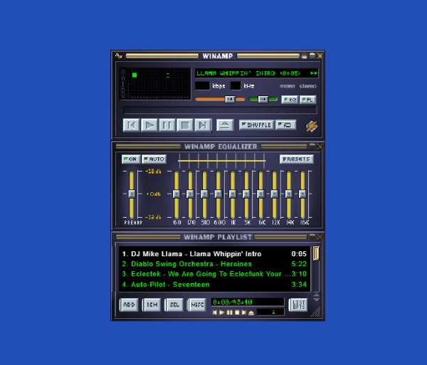 Browser Winamp – play music like the 90s again