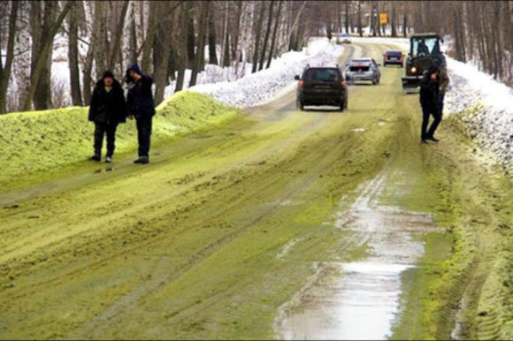 Multi-colored toxic snow is causing concern in Russia