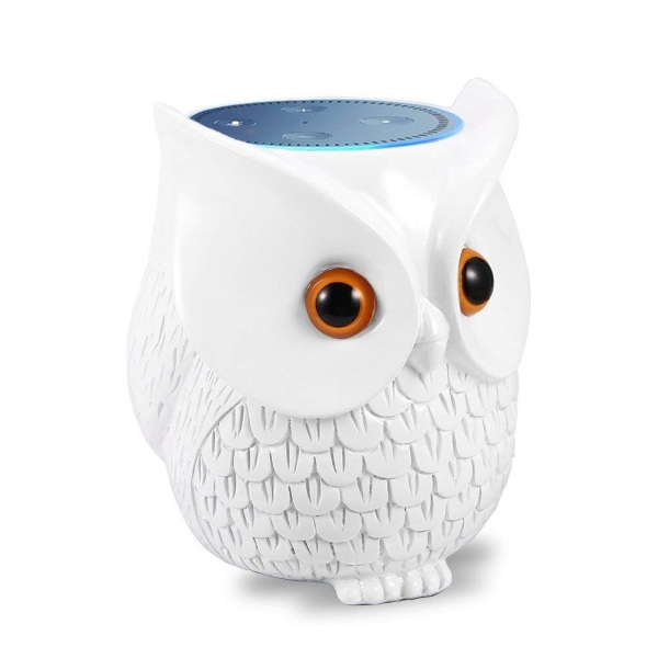 Owl Statue Echo Dot Holder – hide your technology