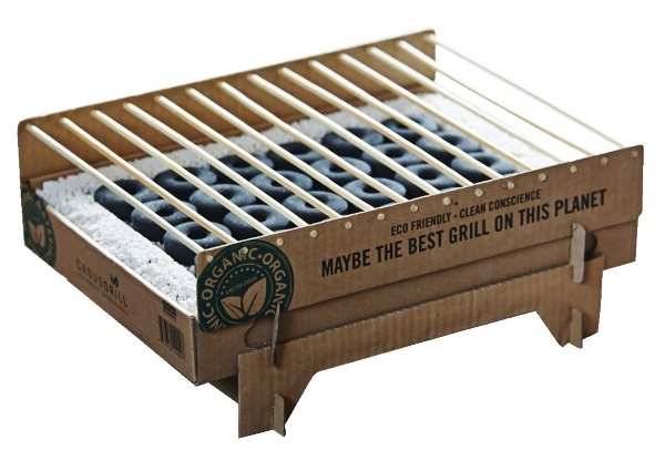 Casus Grill Instant Barbecue – this disposable grill is biodegradable