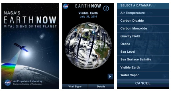 Earth Now – keep on eye on the climate with this app