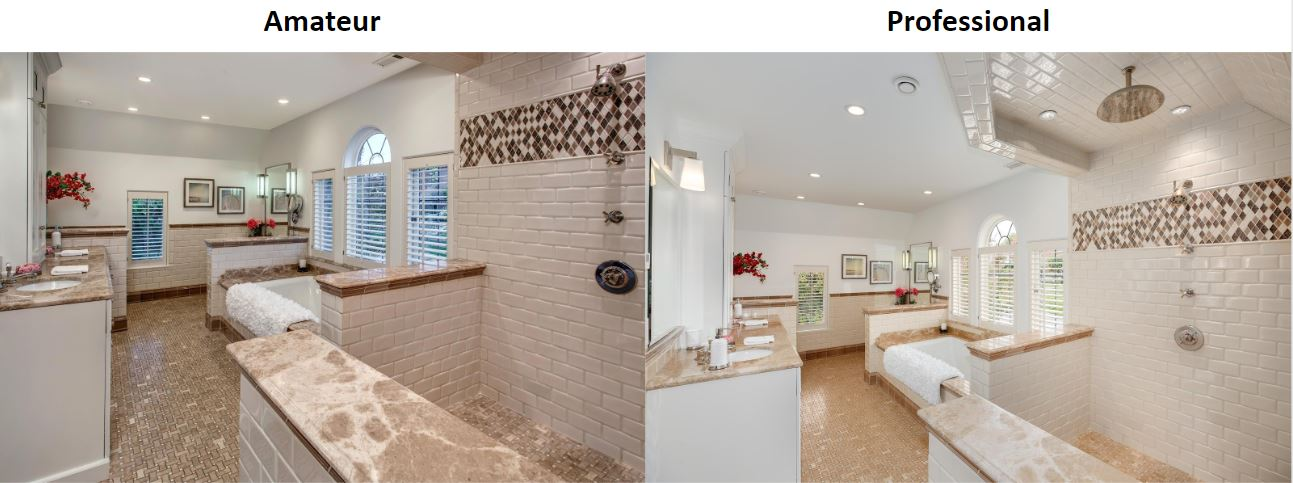 Master bathroom professional real estate photos