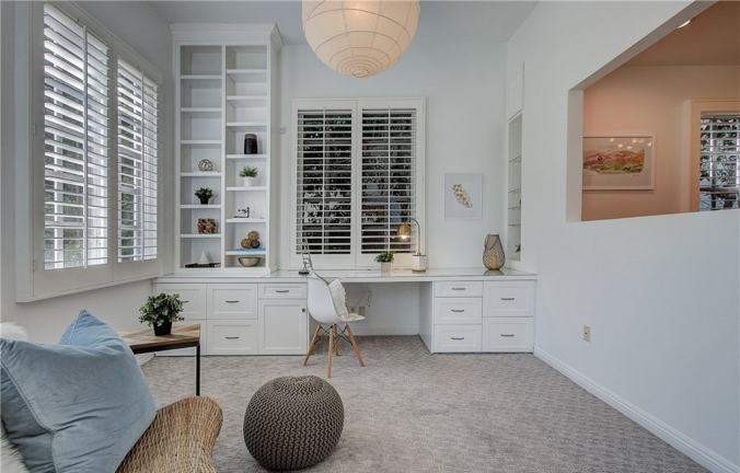 home office design trends built in