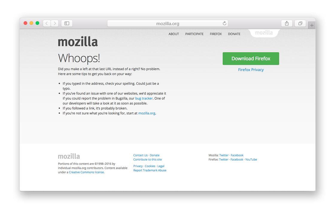 Mozilla 404