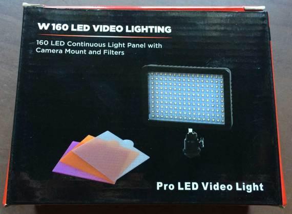 Faretto a 160 LED per DSLR e non solo