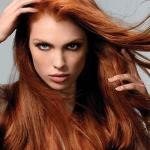 Long hairstyle Auburn hair color
