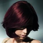 Brown burgundy hair color