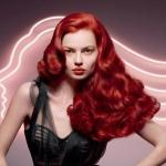 Vintage red hair color hairstyle
