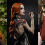 Red Gothic hairstyles