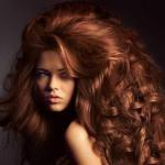 Big long hairstyle with chestnut color
