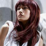 Long brown hairstyles for Asian women