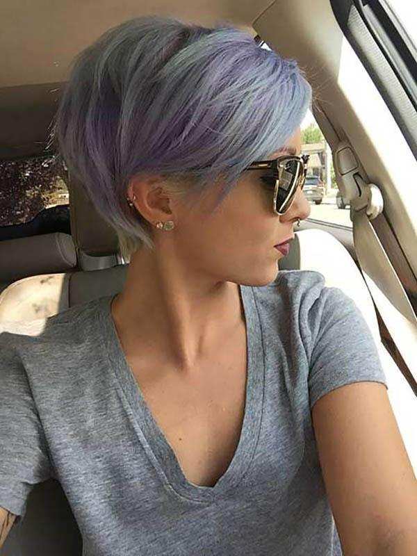 Short lilac hair colors for fall