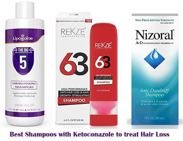 The Best Shampoos with Ketoconazole to treat Hair Loss