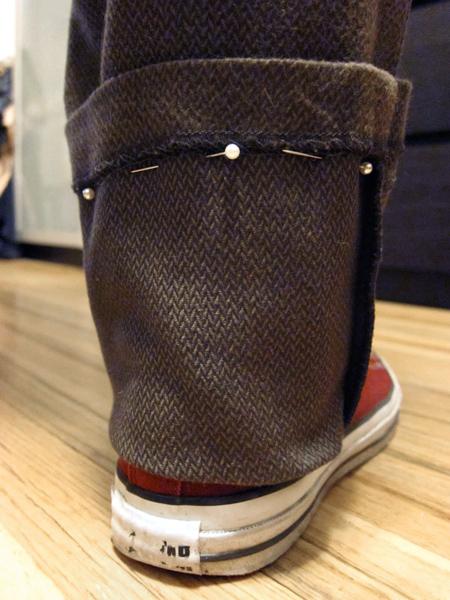 Tutorial: Simple Pants Hemming   Red-Handled Scissors