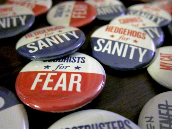 Rally to Restore Sanity, Here We Come! | Red-Handled Scissors