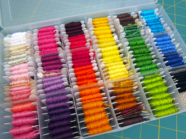 Organize: Embroidery Floss | Red-Handled Scissors