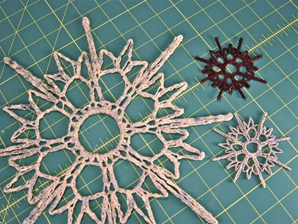 Sunday Snapshot: Giant Crocheted Snowflake | Red-Handled Scissors