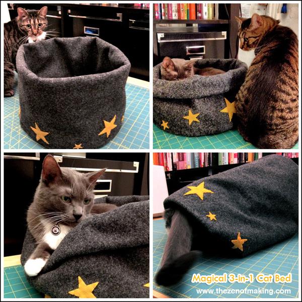 Tutorial: Magical 3-in-1 Cat Bed | Red-Handled Scissors