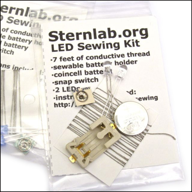 Review: LED Sewing Kit from Sternlab.org for Craft Test Dummies | Red-Handled Scissors
