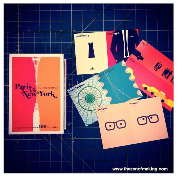 Sunday Snapshot: Paris vs. New York Postcards | Red-Handled Scissors