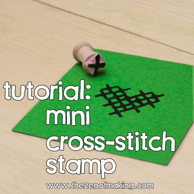 Tutorial: Mini Cross-Stitch Stamp | Red-Handled Scissors