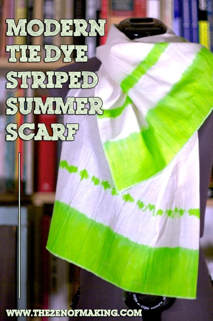 Tutorial: Modern Tie Dye Striped Summer Scarf | Red-Handled Scissors