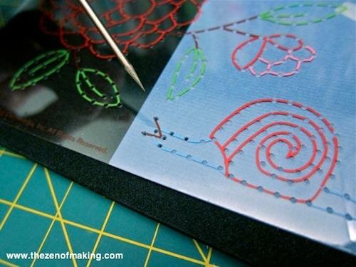 Review: Martha Stewart Crafts Pierce and Stitch Starter Kit for Craft Test Dummies | Red-Handled Scissors