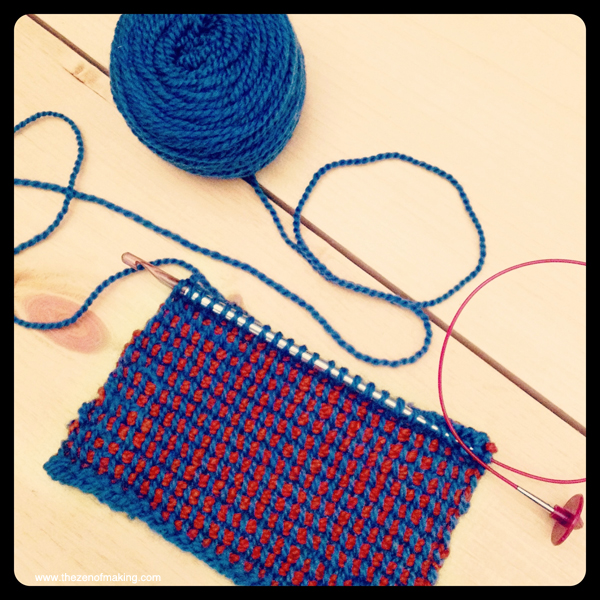 Sunday Snapshot: Tunisian Crochet Colorwork | Red-Handled Scissors