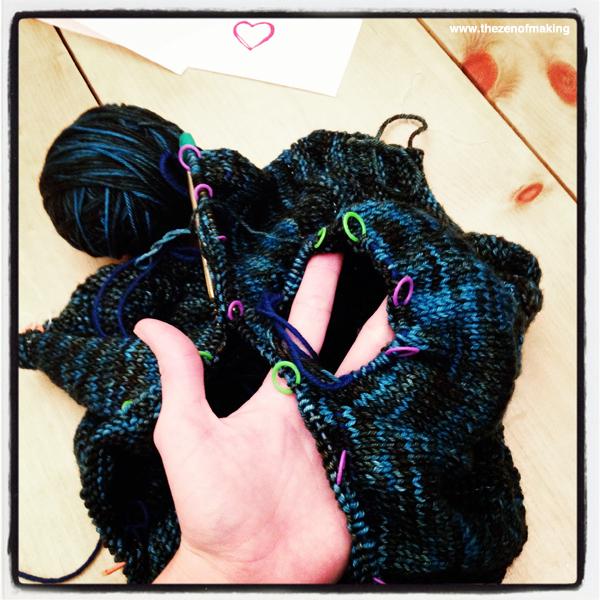 Sunday Snapshot: Cardigan Sleeves & Sweater Knitting Success | Red-Handled Scissors