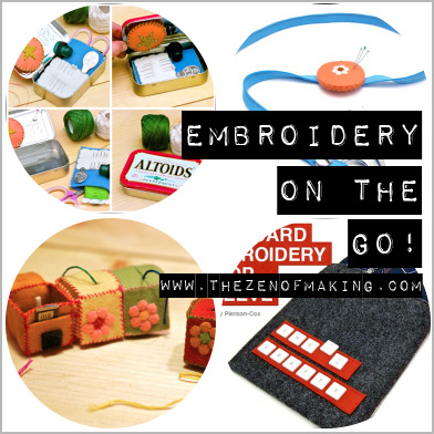 Friday Internet Crushes: Embroidery on the Go | Red-Handled Scissors